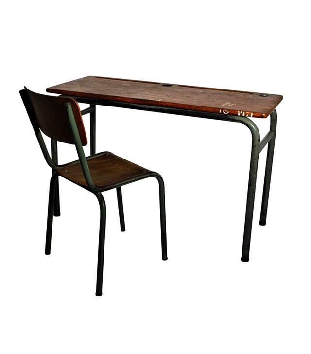 Nobarock School Desk With a Chair, Circa 1940