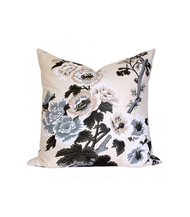 Arianna Belle Pyne Hollyhock Charcoal Pillow