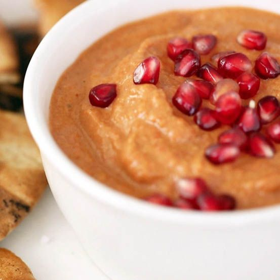 Roasted Red Pepper, Walnut, and Pomegranate Dip