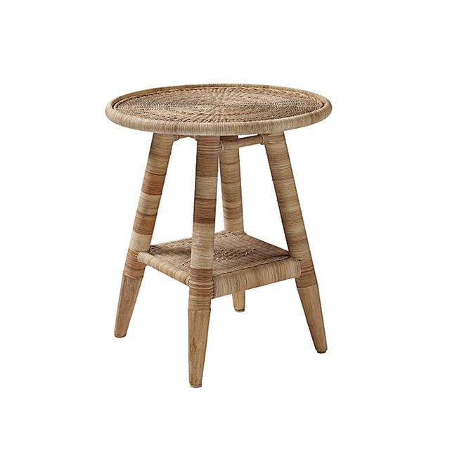 Serena & Lily Natural Woven Side Table