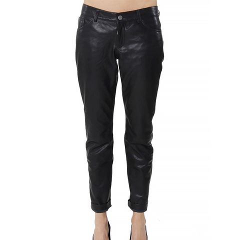Loose Fit Leather Pants