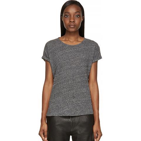 Grey Slub Laura T-Shirt