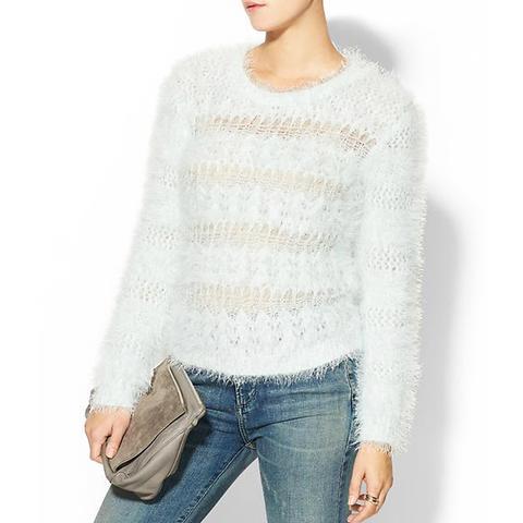 Fuzzy Open Weave Sweater