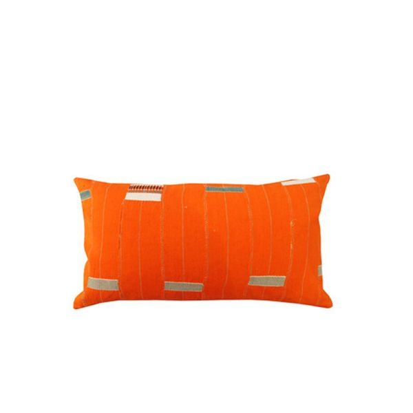 Hollywood at Home Vintage Orange African Accent Pillow