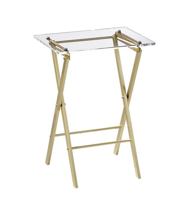 CB2 Novo Acrylic Folding Table