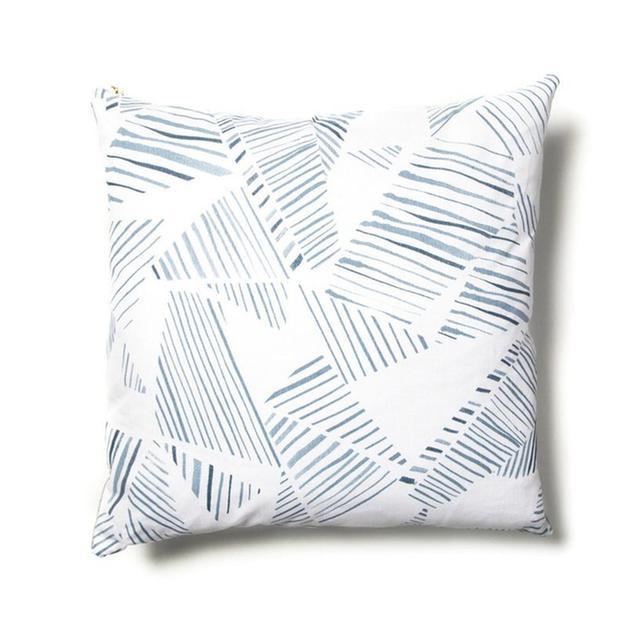 Rebecca Atwood Mixed Stripe Blue-Slate Pillow
