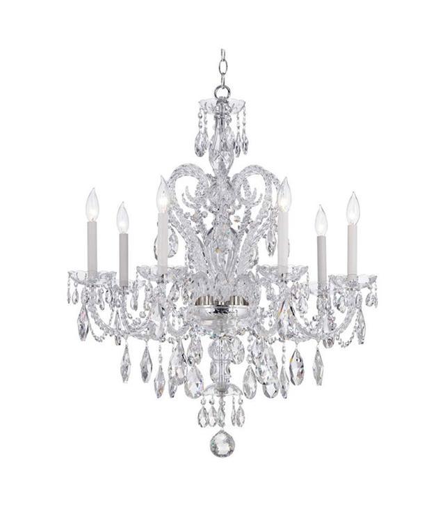 Lamps Plus Schonbek Silver Novielle Spectra Crystal Chandelier
