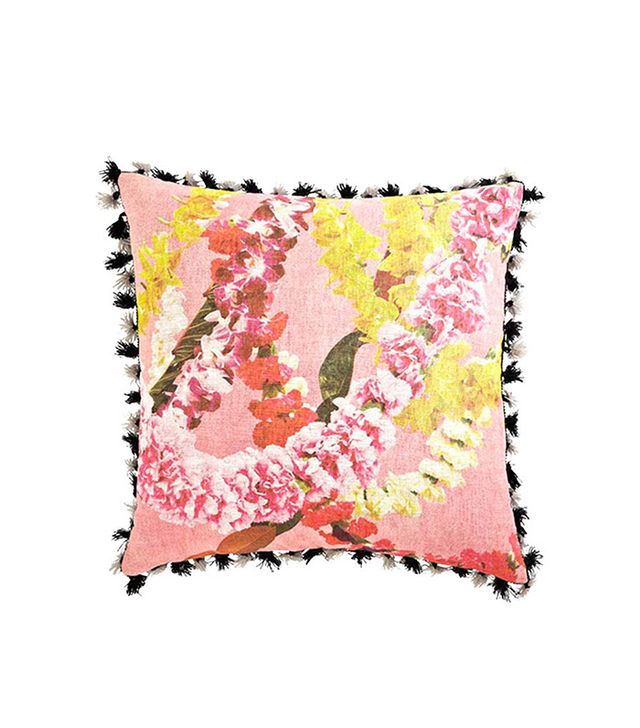 Leif Floral Garland Tassel Trim Pillow