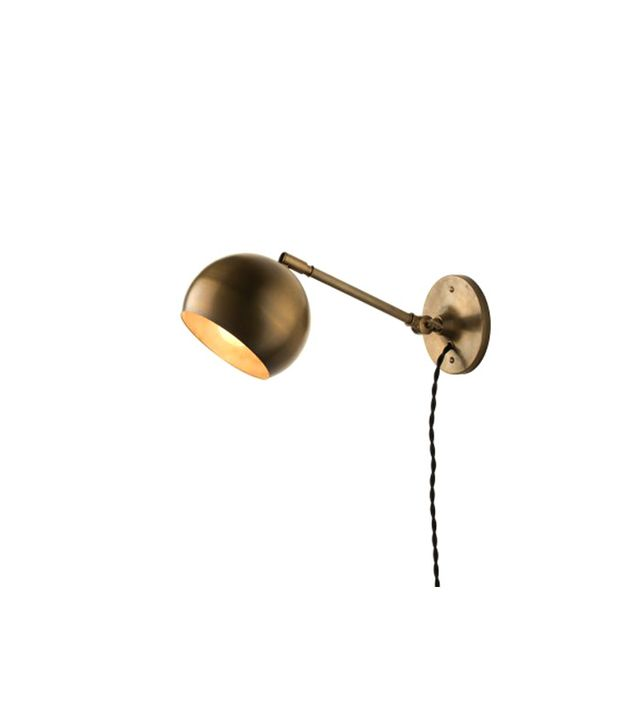 Schoolhouse Electric & Supply Co. Isaac Plug-In Long Arm Brass Sconce