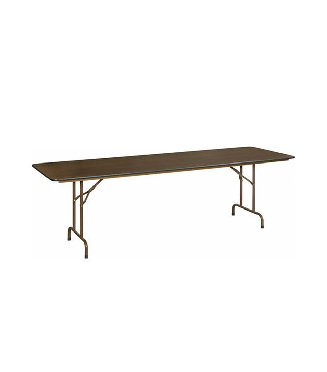 Staples 8' Folding Melamine Banquet Table