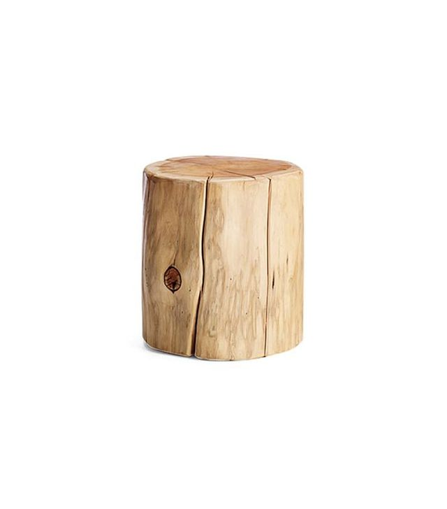West Elm Natural Tree-Stump Side Table