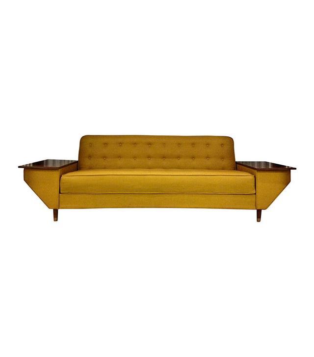 Chairish Mid-Century Modern Mustard Yellow Daybed