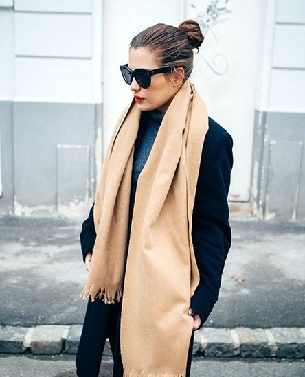 7 Chic Ways To Wear A Camel Scarf