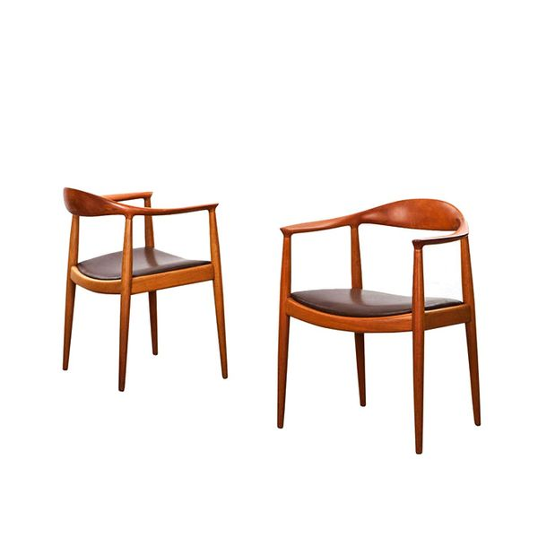 1st Dibs Pair of Hans Wegner Chairs