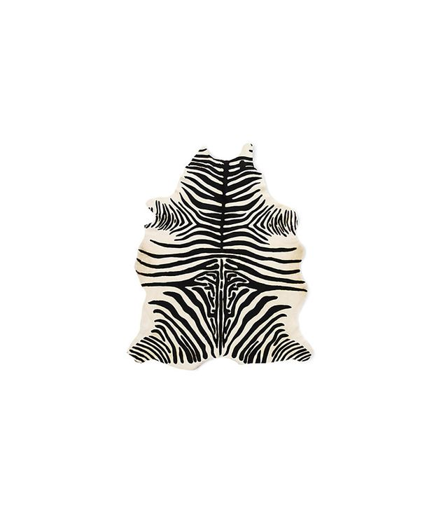 Edelman Leather Zebra Cowhide Rug