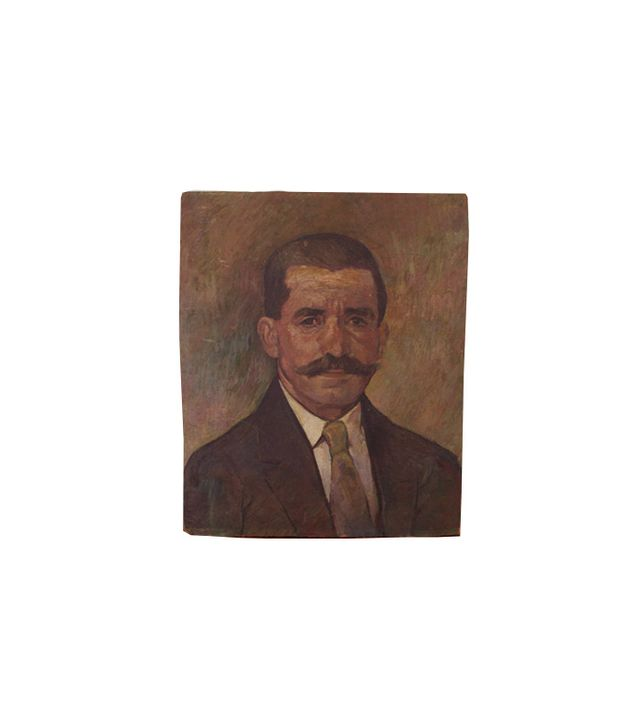 Etsy Unframed Vintage Oil Portrait