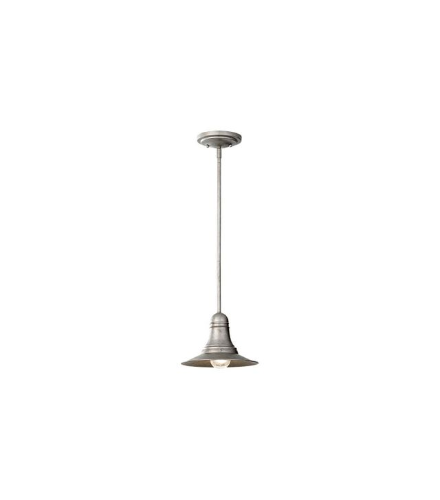 Barn Light Electric Ship's Bell Antique Pewter Pendant Light