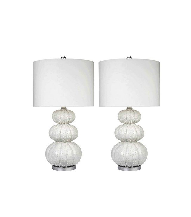 Overstock Pair of Abbyson Living Stacked Sea Urchin Lamps