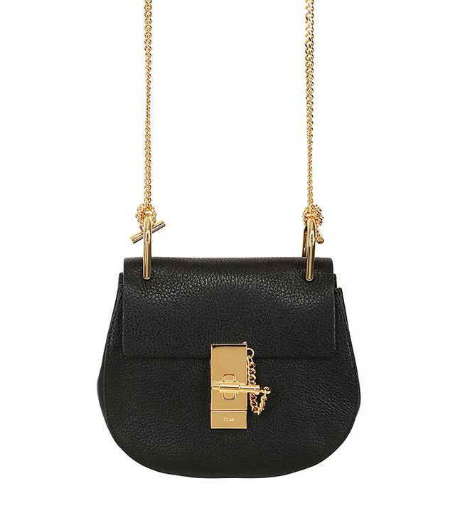 Chloé Mini Drew Grained Nappa Leather Bag