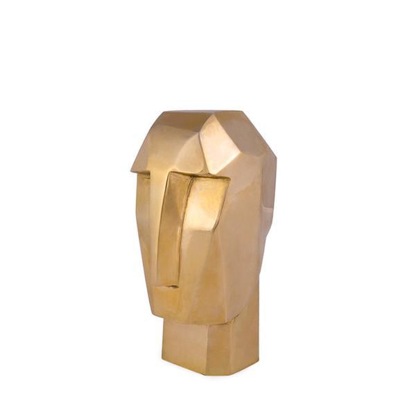 Kelly Wearstler Little Bronze Head Trip Sculpture
