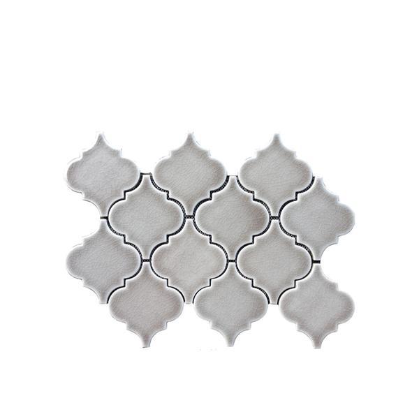 The Builder Depot Dove Grey Arabesque Tile