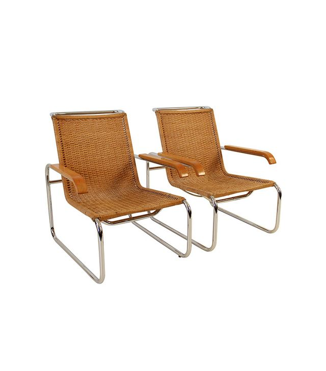 Marcel Breuer For Thonet B35 Lounge Chairs