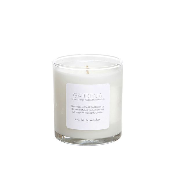 Prosperity Candle for The Little Market Gardenia Soy Blend Candle