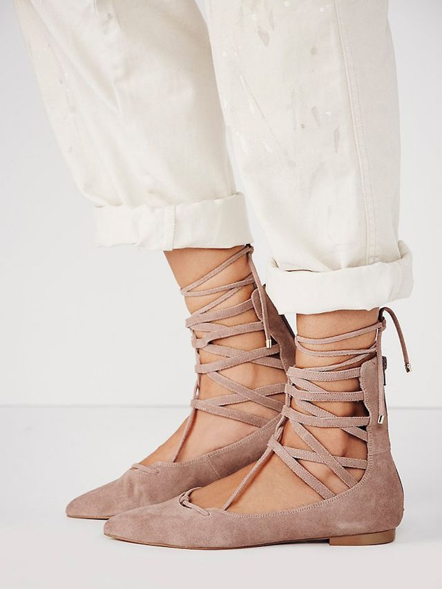 Jeffrey Campbell Shay Lace Up Flats