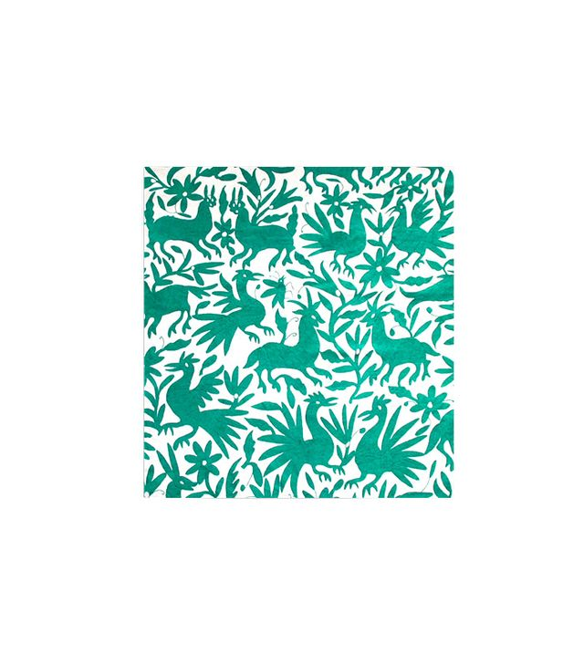 L'aviva Home Mexican Otomi Coverlet in Mint