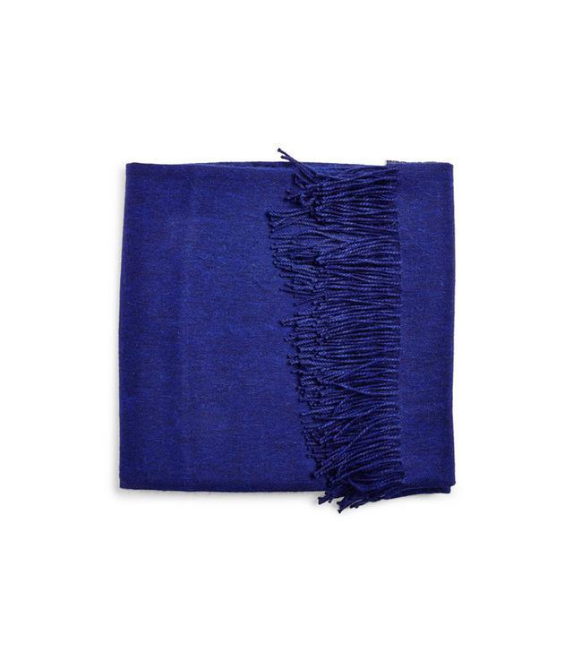 abc carpet & home Yves Delorme Sapphire Alpaca Throw