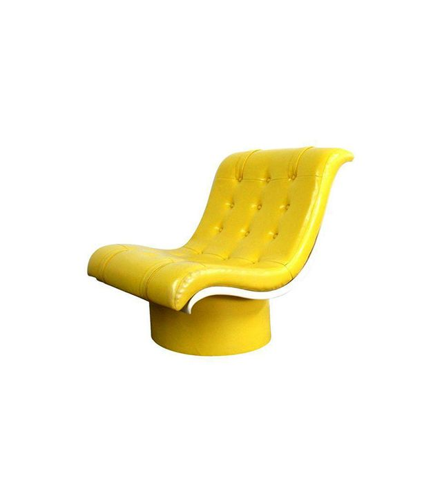 Chairish Spaceage Mod Yellow Tufted Lounge Chair
