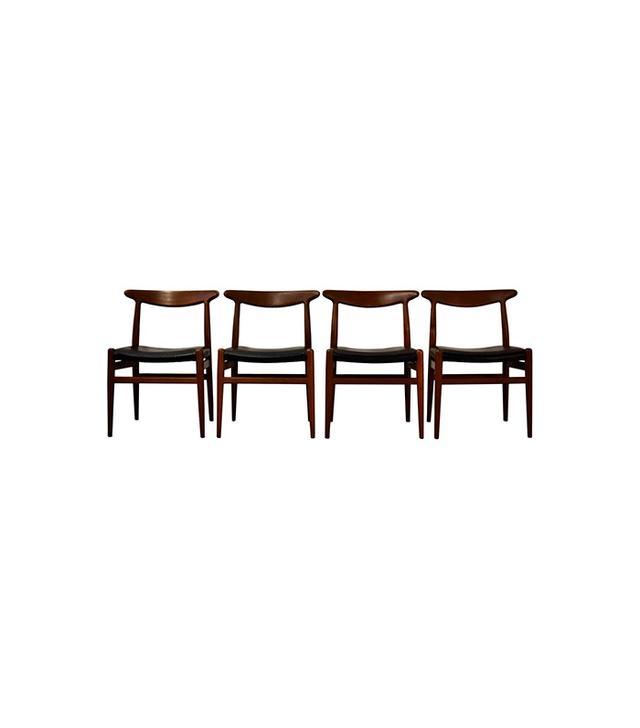 1st Dibs Set of Hans Wegner for C.M. Madsen Dining Chairs
