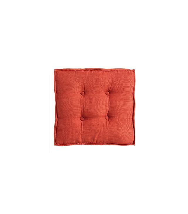 World Market Orange Khadi Tufted Floor Cushion