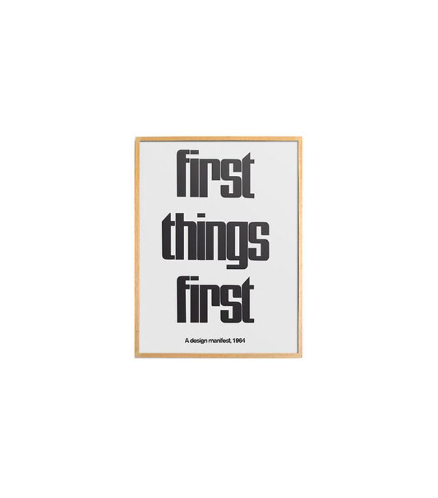 Bold Modern First Things First 1964 Design Manifest Poster