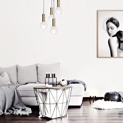 Get the Look: A Grayscale Scandinavian Haven