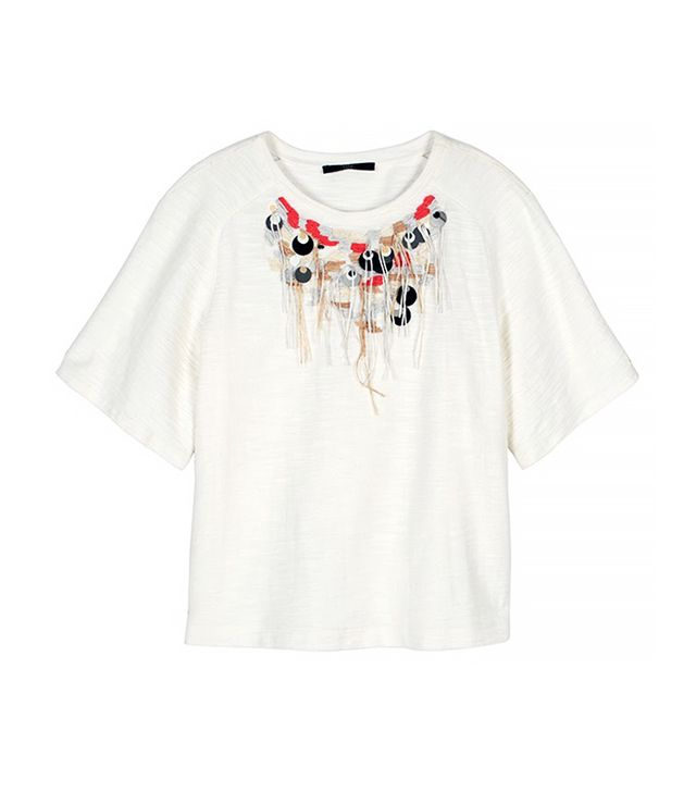 Tibi Thread Fringe Necklace Top