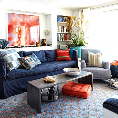 Shop the Room: A Relaxed, Indigo Living Room