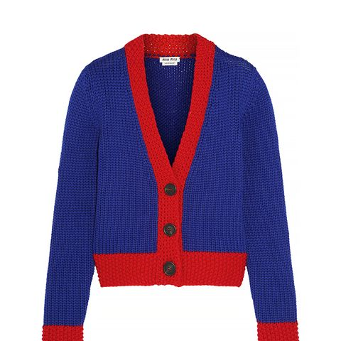 Two-Tone Wool Cardigan