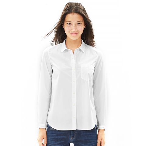Fitted Boyfriend Poplin Shirt