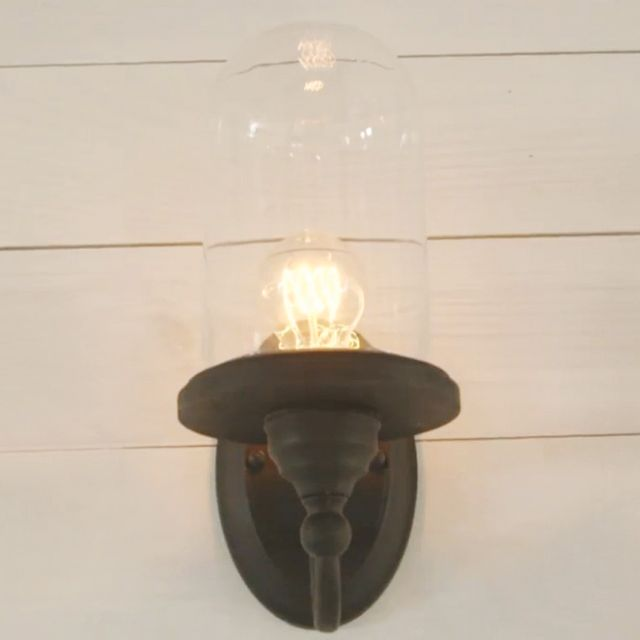 DIY: An Easy and Chic Bell Jar Sconce