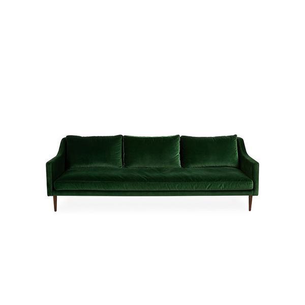 "ModShop Naples 96"" Sofa, Green"
