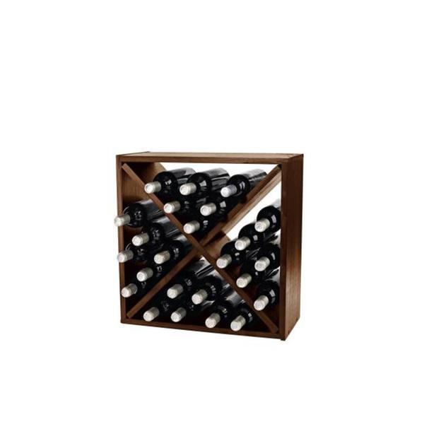 Wine Enthusiast Walnut Cube Wine Rack