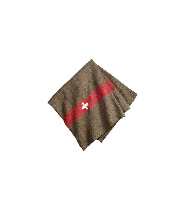 Vermont Country Store Wool-Blend Swiss Army Blanket