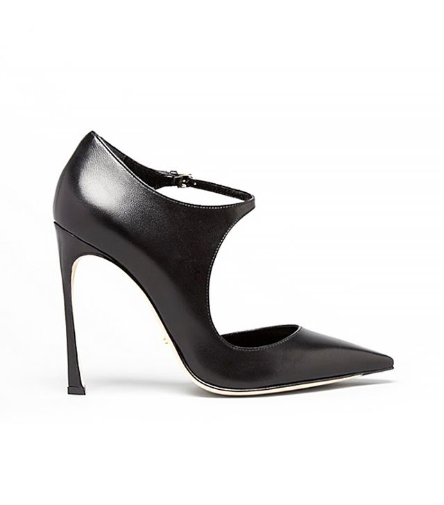 Sergio Rossi Pointed Toe Ankle Strap Pumps
