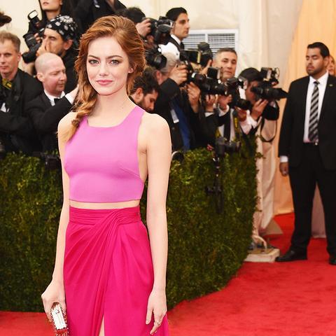 Emma Stone Met Gala 2014 red carpet