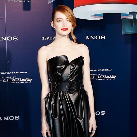Emma Stone Amazing Spider-Man 2 Paris premiere red carpet