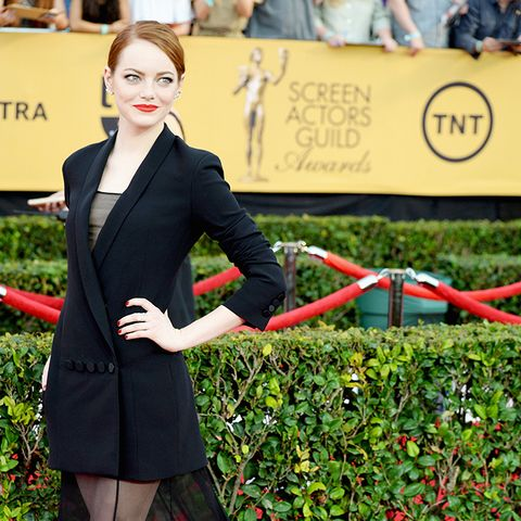Emma Stone 2015 SAG Awards red carpet