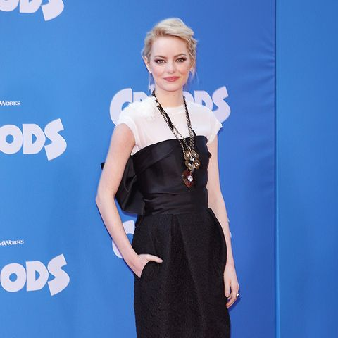 Emma Stone The Croods NY premiere red carpet
