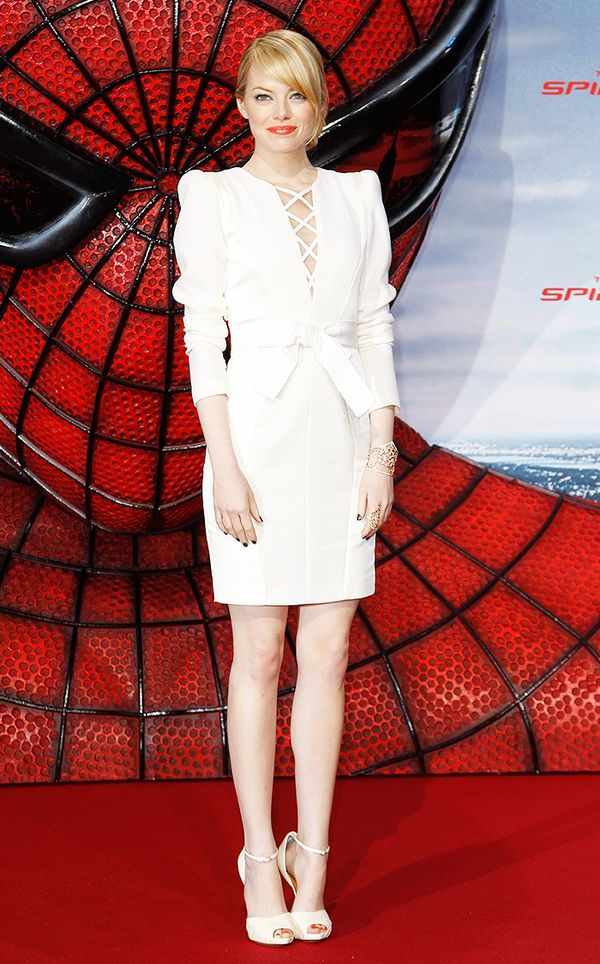 That time she wore sleek all-white and dramatic shoulder-pads: