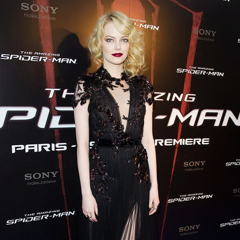 Emma Stone The Amazing Spider-Man Paris premiere red carpet
